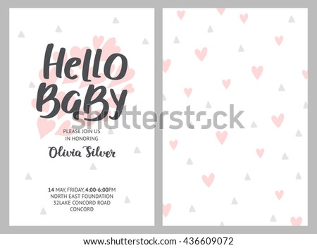 baby shower girl boy invitations vector stock vector, Baby shower invitation