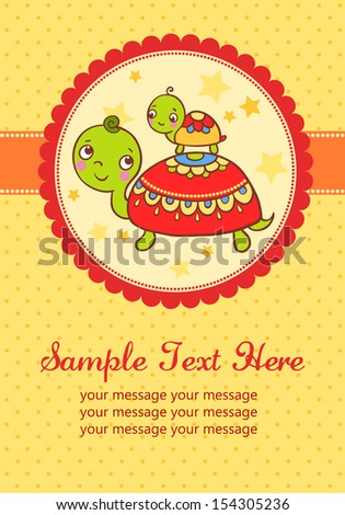 Baby shower invitation card. - stock vector