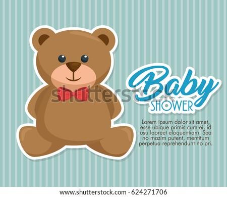 Baby Shower Invitation Card Stock Vector 545283616 Shutterstock