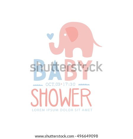 baby shower invitation design template toy stock vector 496649098