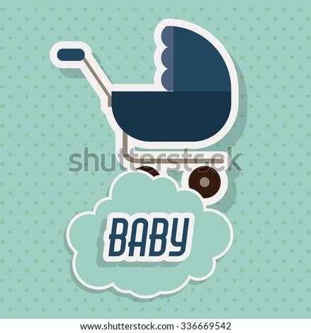 baby shower invitation design, vector illustration eps10 graphic  - stock vector