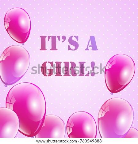 Baby shower invitation girls girl text stock vector 760549888 baby shower invitation girls girl text stock vector 760549888 shutterstock stopboris Choice Image