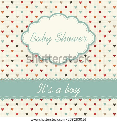 "Baby shower invitation ""It's a boy"""