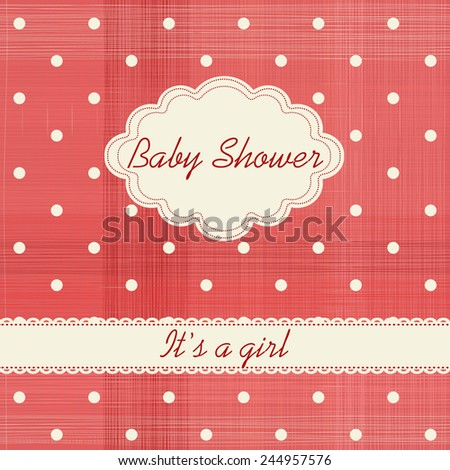 "Baby shower invitation ""It's a girl"""