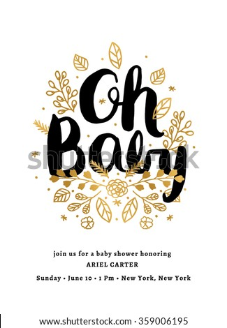 Baby Shower Invitation Template Stock Vector 359006195 - Shutterstock