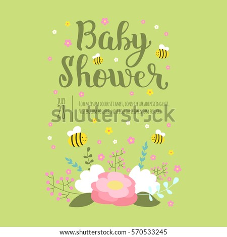 Baby shower invitation vector card stock vector hd royalty free baby shower invitation vector card stopboris Images
