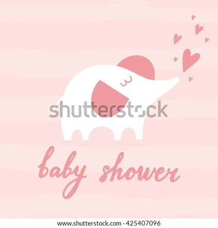 Baby Shower invitation with elephant