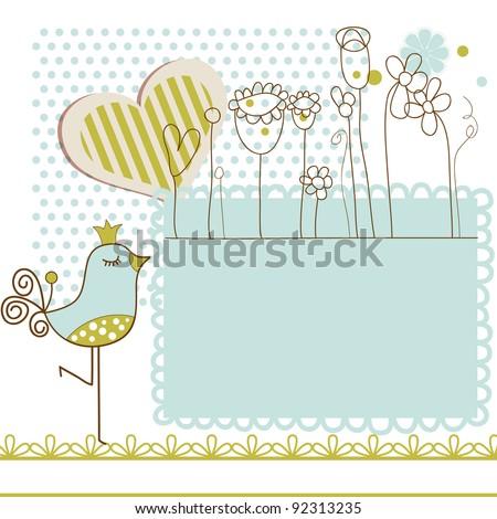 Baby shower vector illustration - stock vector
