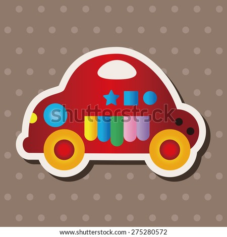 baby toy car theme elements