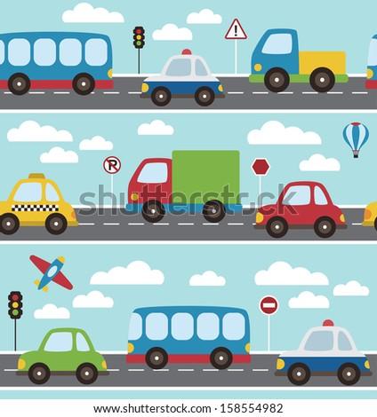 baby vehicle pattern design. vector illustration - stock vector