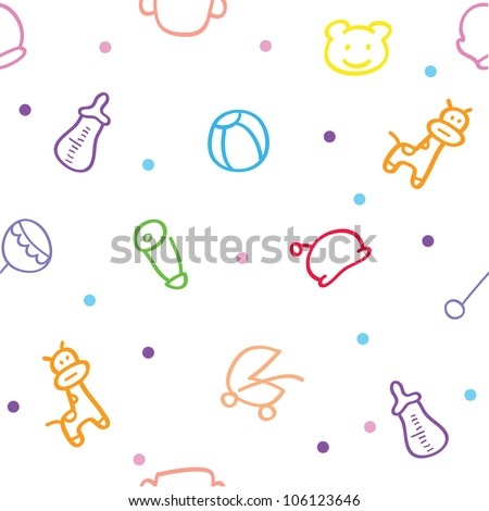 baby wallpaper for decorations, greeting card and others - stock vector