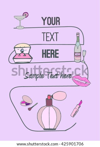 Bachelorette party poster / invitation template