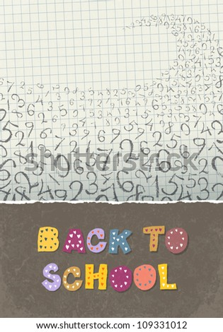 Back to school, A4 format. Education themed abstract background, vector illustration, EPS10 - stock vector