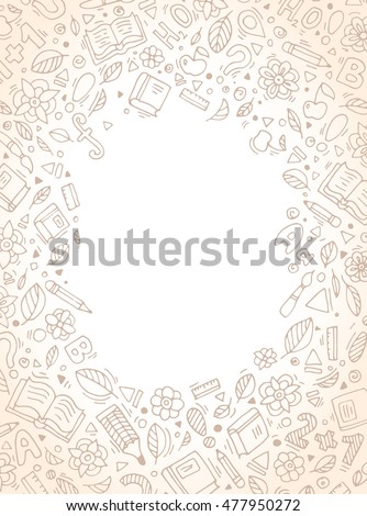 Back to school abstract background. Vector illustration. Set collection. Creative education concept for cards, tickets, branding, logo, label. Kids, children drawing. Web and mobile interface template
