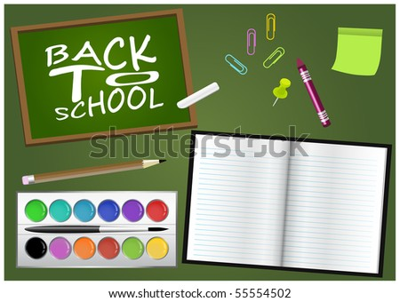 Back to school accessories - stock vector
