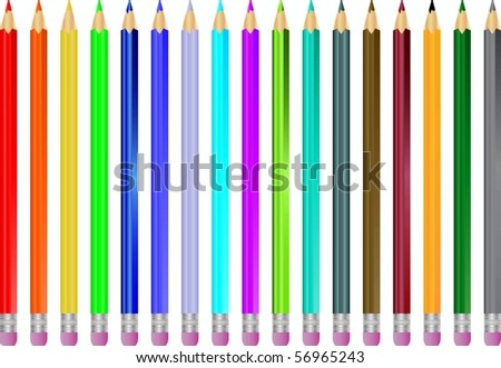 Back To School and Back to Arts and Crafts - stock vector