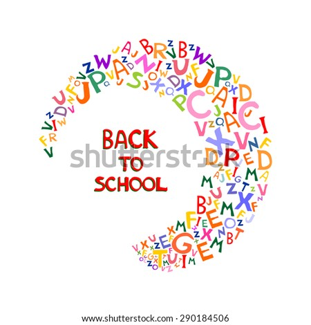 Back to school background. Abstract background with letters and place for your text. Vector illustration