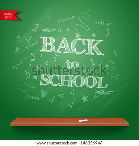 Back to school background. Vector - stock vector