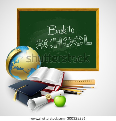Back to school  background. Vector illustration EPS 10 - stock vector