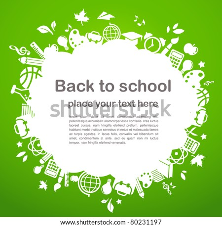 back to school - background with education icons - stock vector