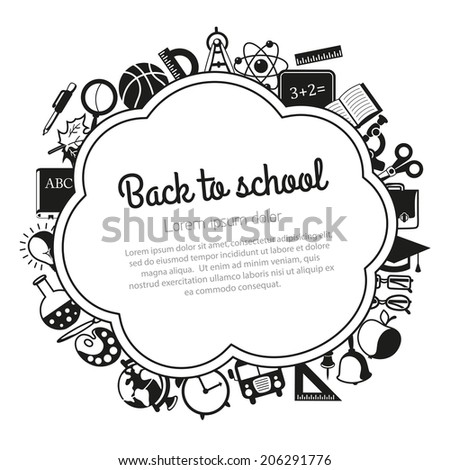 Back to school background with place for text - stock vector