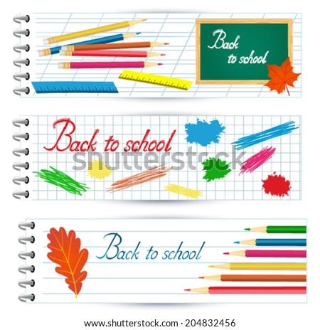 Back to school banner - stock vector