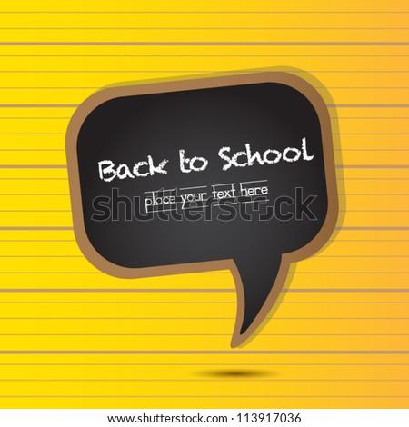 Back to School bubble - black, vector - stock vector