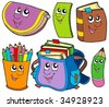 Back to school collection 5 - vector illustration. - stock vector