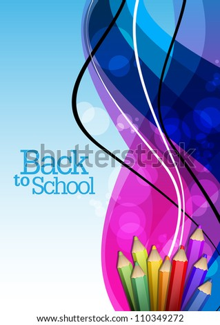 Back to School Design - stock vector