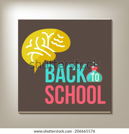 Back to school design template. vector illustration - stock vector