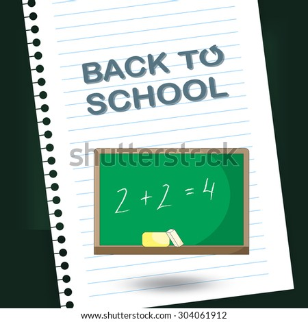 Back to school design. Vector illustration