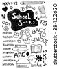 Back to school doodles - stock vector