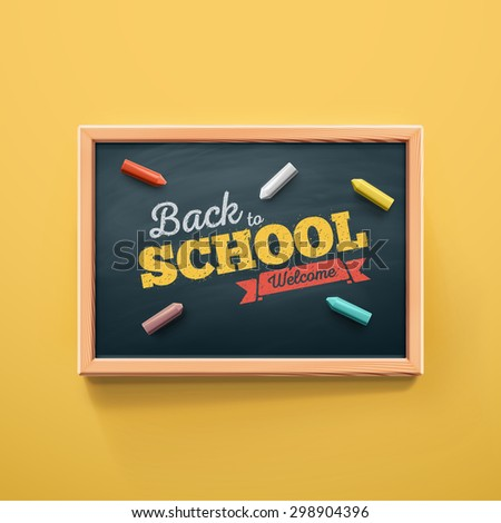 Back to school, eps 10 - stock vector