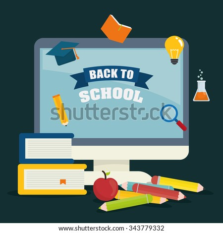 Back to school graphic design icons, vector illustration eps10