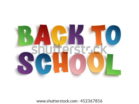 Back To School hand drawn typeface isolated on white background. Vector illustration.
