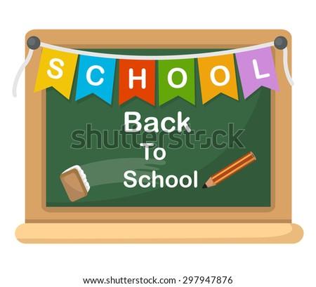 back to school, illustration.vector - stock vector