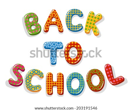 Back to school letters - stock vector