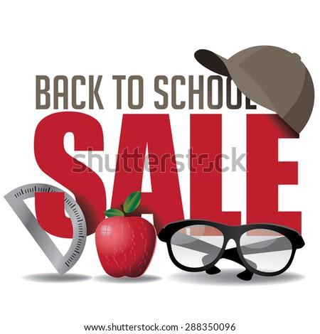 Back to School marketing header. EPS 10 vector Illustration for greeting card, ad, promotion, poster, flier, blog, article, social media, marketing - stock vector