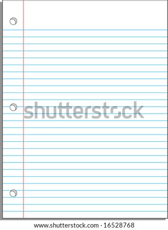 Back-to-school Notebook paper background