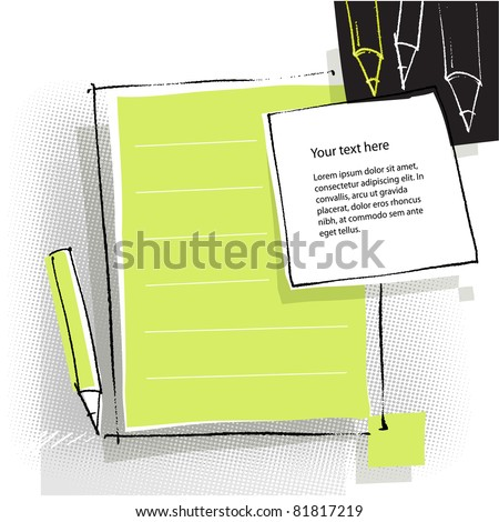 back to school - page layout - stock vector