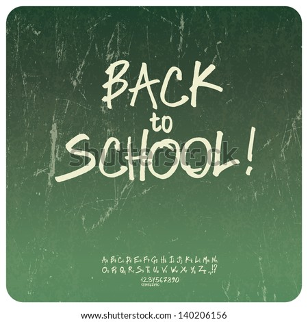 Back to school poster. Vector - stock vector