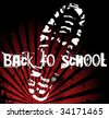 Back to school shoe sole grunge print - stock photo
