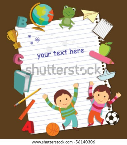 back to school template design - stock vector