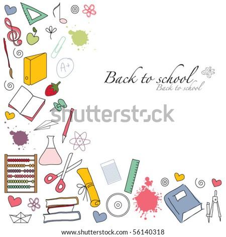 back to school template design - stock vector