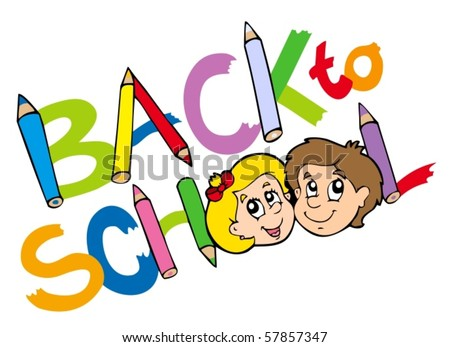 Back to school theme 3 - vector illustration. - stock vector