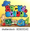 Back to school topic 1 - vector illustration. - stock vector