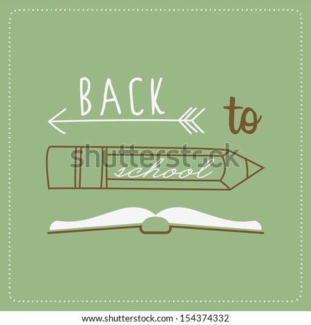 Back To School Typography Background - stock vector