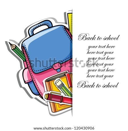 Back to school, vector background for your design - stock vector