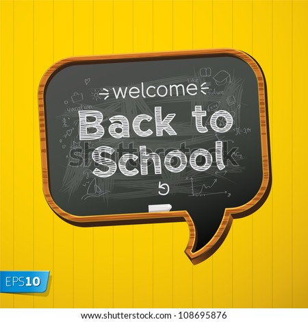 Back to school, vector Eps10 image - stock vector