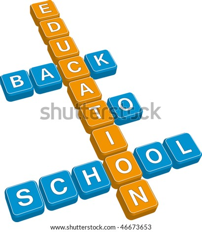 back to school (vector format) - stock vector